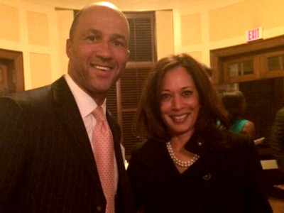 Mike with California Attorney General, Kamala Harris, candidate for U.S. Senate in 2016.