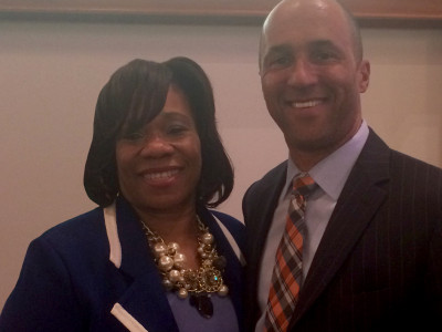 Mike Laux and National Bar Association President, Pamela Meanes.