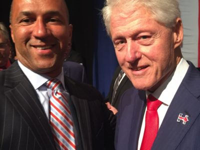 Mike visiting with Arkansas' Favorite Son, The Man From Hope, President Bill Clinton.