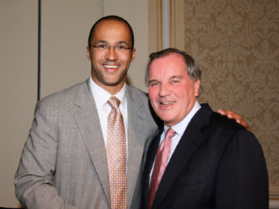 Mike Laux with Chicago Mayor Richard M. Daley at An Evening Honoring Richard M. Daley, sponsored by the Cook County Democratic Party on August 29, 2007.