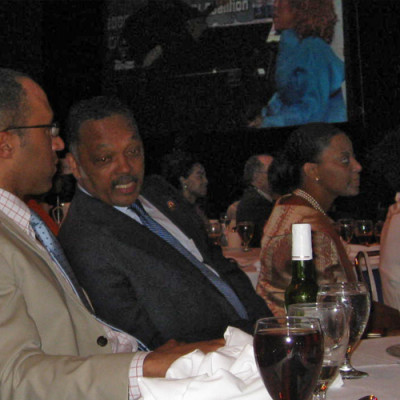 Enjoying Grammy-winner Roberta Flack with the Rev. Jesse Jackson at the PUSH Excel Scholarship Gala on June 30, 2008.